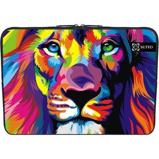 1461 – Housse Neoprene PC Ordinateur Portable Macbook 15.6″ pouces – Dessin Lion