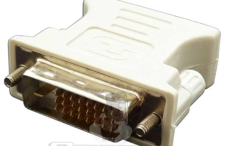 Adaptador Conversor de DVI-D 24+1 Pin DualLink Macho VGA A Hembra 15 Pin Adapter