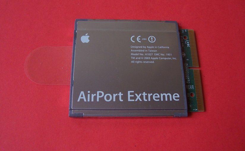 Carte WIFI APPLE AirPort Extreme Card – (802.11G) Ibook G4-Powerbook-Imac G4