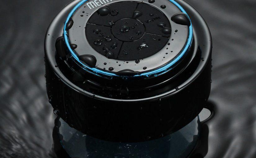 Enceintes Haut Parleur Bluetooth Sans Fil Stéréo Etanche Ventouse pour Phones PC