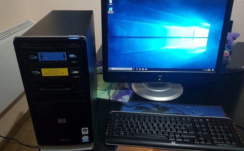 Ordinateur de bureau complet avec écran 22 pouces