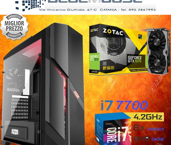 PC GAMING COMPUTER INTEL CORE I7 7700 KABY LAKE GTX 1070 8GB NVIDIA 1TB 16GB RAM
