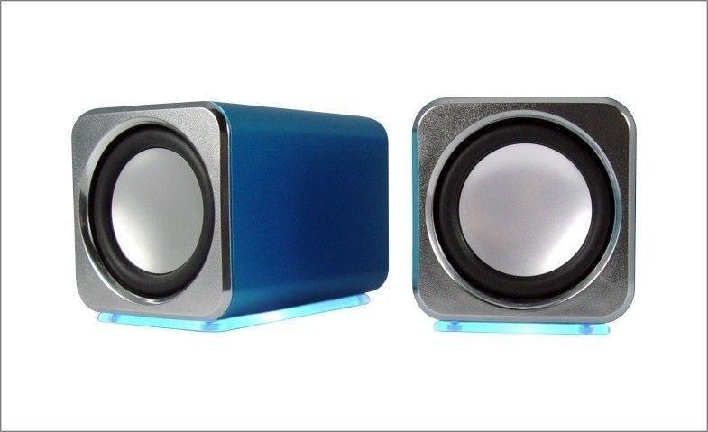 Remis à neuf Aluminium USB Portable Travel Hauts-parleurs pour PC Mac Bureau MD2