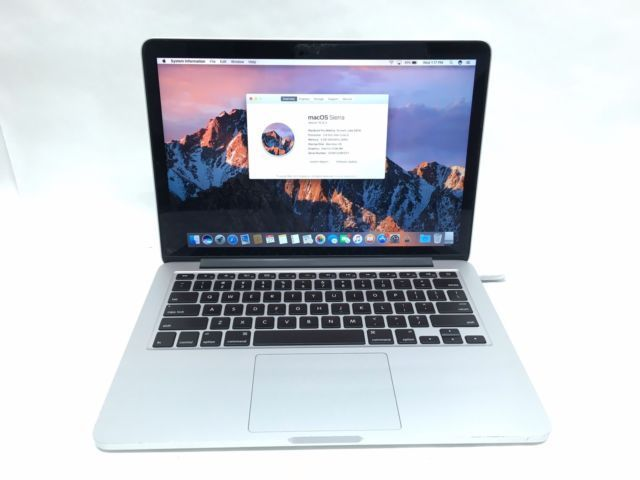 Apple Refurbished Macbook pro Retina 13″ Laptop i5 8gb Mem 128 ssd hard drive