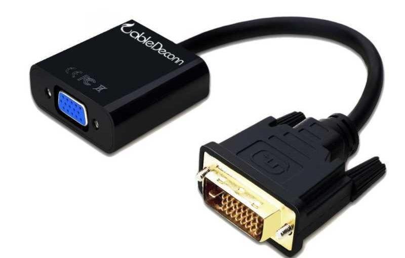 CableDeconn Active DVI-D Link 24 + 1 mâle vers VGA femelle M/F Câble adaptateur