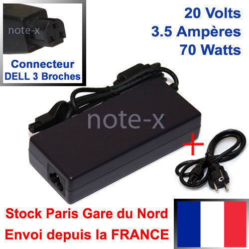 Chargeur pc portable compatible Dell 1243U PA-4 Family PA-6 PA-8 GB-D07