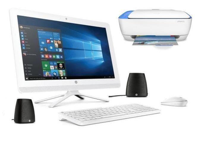 HP PC Tout en un- 22b000nf-21,5′-RAM 4Go- Windows 10 – Intel Core i3- Intel HD –