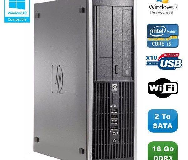 PC HP Compaq Elite 8100 SFF Intel Core i5 650 3.2GHz 16Go 2To Graveur WIFI W7