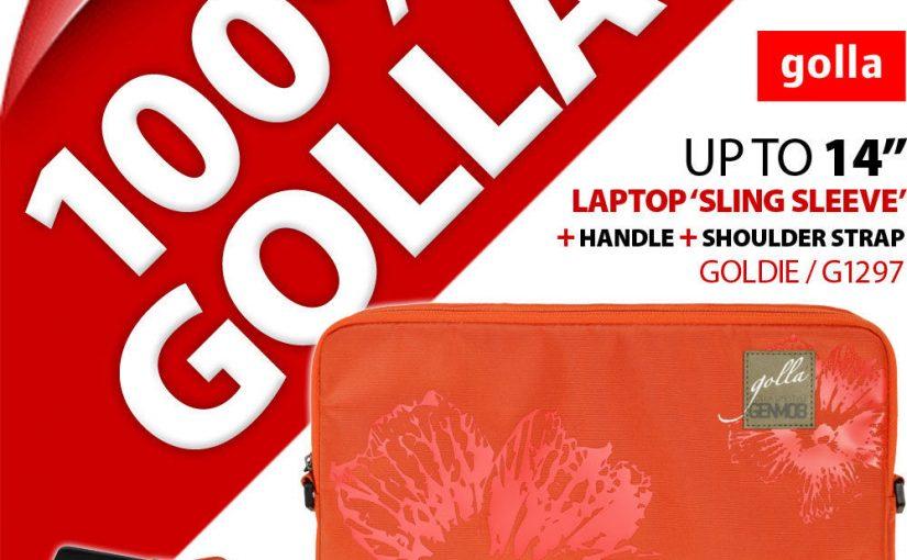 """Golla 14"""" 14.1″ Orange Housse Ordinateur Portable Sac Rembourré Étui Mallette+"""