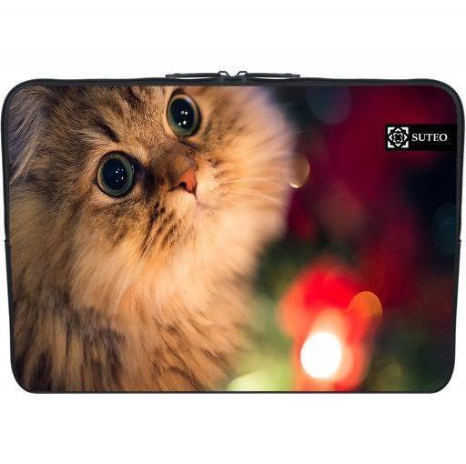 Housse Neoprene PC Portable 11.6″ pouces – Chaton et magie de Noel – ref 406
