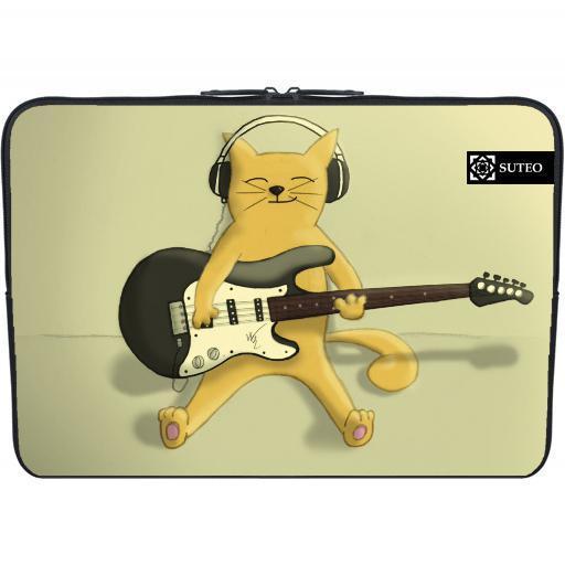 achat housse pc portable 11 6 pouces chat qui joue de la guitare electrique 310 pas cher. Black Bedroom Furniture Sets. Home Design Ideas