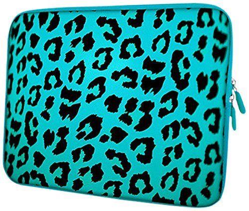 PEDEA Housse de néoprène pour pc portable de 13.3″ (33,7cm) Blue Leopard