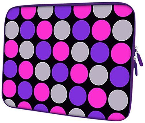 PEDEA Housse de néoprène pour pc portable de 13.3″ (33,7cm) Pink Points