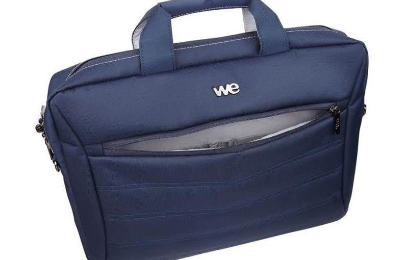 WE Sacoche Ordinateur – 17,3″ – Nylon – Bleu